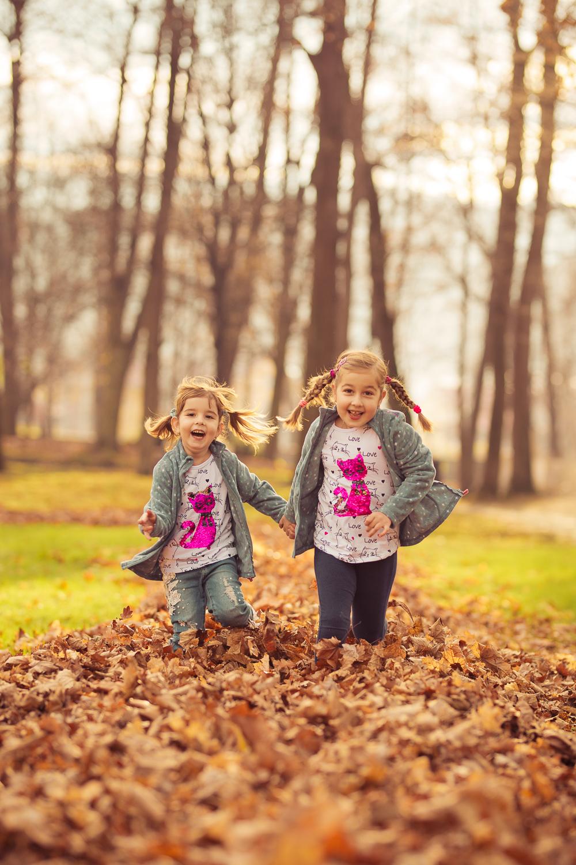 jesiennie zdjęcia dzieci